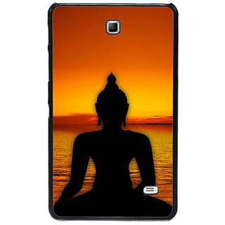Fuson Golden Designer Phone Back Cover Samsung Galaxy Tab 4 (Lord Gautam Buddha)