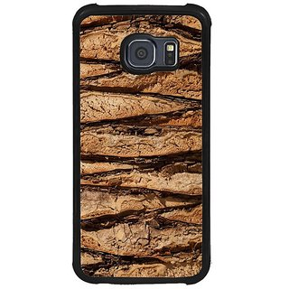 Fuson Brown Designer Phone Back Cover Samsung Galaxy S6 G920I (The Stripes On The Tree)