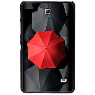 Fuson Black Designer Phone Back Cover Samsung Galaxy Tab 4 (The Red Umbrella Among Black)