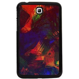 Fuson Multi Designer Phone Back Cover Samsung Galaxy Tab 3 (Vibrant Painted Canvas)