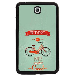Fuson Blue Designer Phone Back Cover Samsung Galaxy Tab 3 (Most Friendly Vehicle)
