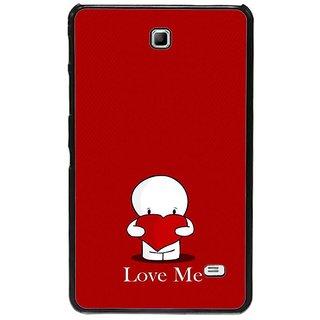 Fuson Red Designer Phone Back Cover Samsung Galaxy Tab 4 (Love Me)
