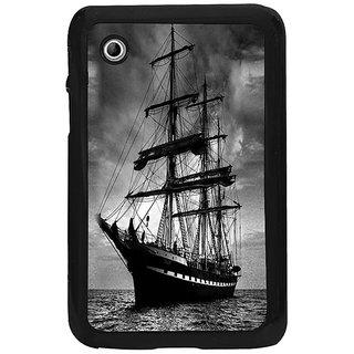 Fuson Black Designer Phone Back Cover Samsung Galaxy Tab 2 (I Ship It)