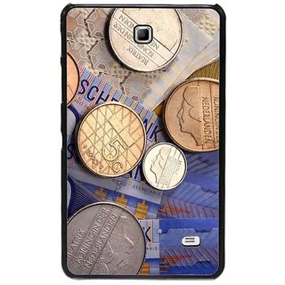 Fuson Multi Designer Phone Back Cover Samsung Galaxy Tab 4 (Currency Notes And Coins)