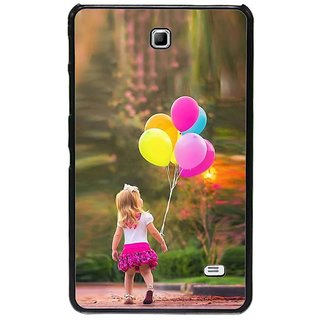 Fuson Multi Designer Phone Back Cover Samsung Galaxy Tab 4 (Girl Walking With Ballons)