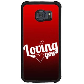 Fuson Red Designer Phone Back Cover Samsung Galaxy S6 G920I (Made For Each Other)