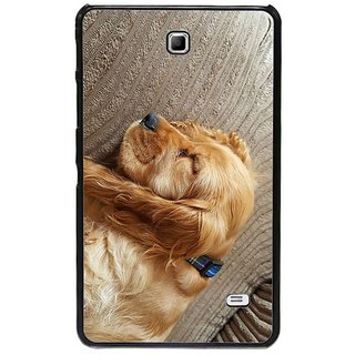 Fuson Golden Designer Phone Back Cover Samsung Galaxy Tab 4 (A Sleeping Spaniel)