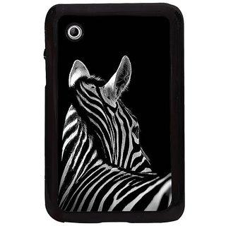 Fuson White Designer Phone Back Cover Samsung Galaxy Tab 2 (A Peaceful Black-Stripped Zebra)