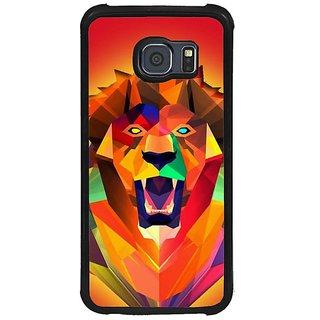 Fuson Multi Designer Phone Back Cover Samsung Galaxy S6 G920I (Lion Roaring Illustration)