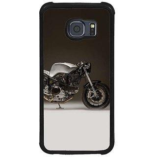 Fuson Black Designer Phone Back Cover Samsung Galaxy S6 G920I (Classy Bike Engine)