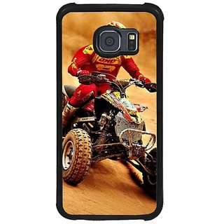 Fuson Brown Designer Phone Back Cover Samsung Galaxy S6 G920I (Riding The Terrain Bikes)