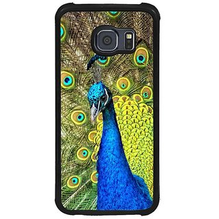 Fuson Multi Designer Phone Back Cover Samsung Galaxy S6 G920I (Peacock With Vibrant Feathers)