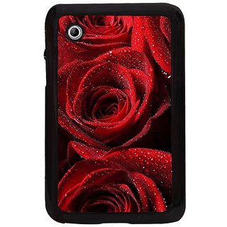 Fuson Red Designer Phone Back Cover Samsung Galaxy Tab 2 (Bunch Of Red Roses)