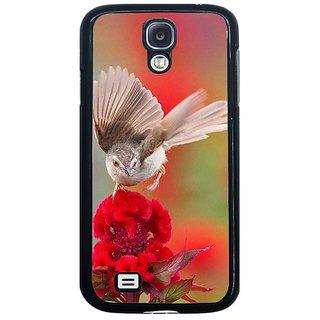 Fuson Multi Designer Phone Back Cover Samsung Galaxy S4 I9500 (A Bird On A Flower)