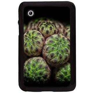 Fuson Black Designer Phone Back Cover Samsung Galaxy Tab 2 (Green Apples For Display)