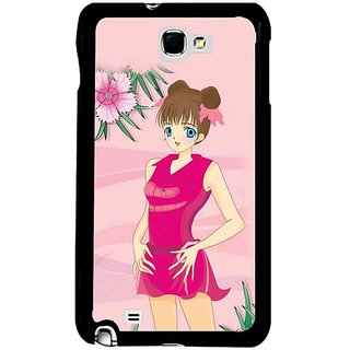 Fuson Pink Designer Phone Back Cover Samsung Galaxy S5 (Girl In A Pink Dress)