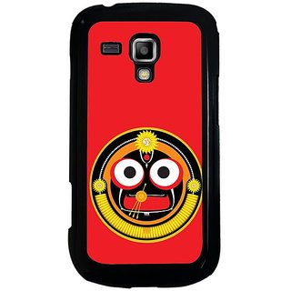 Fuson Red Designer Phone Back Cover Samsung Galaxy S Duos S7562 (Shree Jagannath)