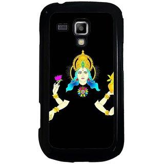 Fuson Black Designer Phone Back Cover Samsung Galaxy S Duos S7562 (Goddess Lakshmi Providing Wealth)