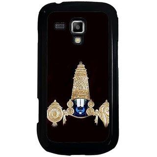 Fuson Black Designer Phone Back Cover Samsung Galaxy S Duos S7562 (Lord Venkateswara)