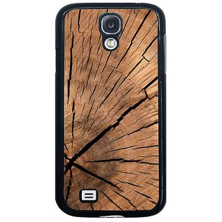 Fuson Brown Designer Phone Back Cover Samsung Galaxy S4 I9500 (The Cracks In The Wood)