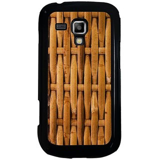 Fuson Brown Designer Phone Back Cover Samsung Galaxy S Duos S7562 (Weavings In A Basket)