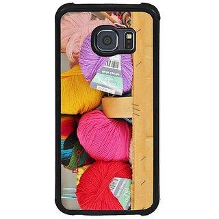 Fuson Multi Designer Phone Back Cover Samsung Galaxy S6 G920I (Colourful Balls Of Wool)