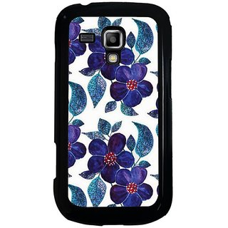Fuson Blue Designer Phone Back Cover Samsung Galaxy S Duos S7562 (A Blue Flowery Affair)