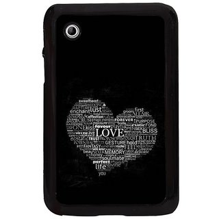 Fuson Black Designer Phone Back Cover Samsung Galaxy Tab 2 (Giving Meaning To Life)
