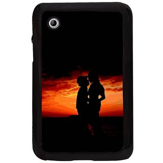 Fuson Multi Designer Phone Back Cover Samsung Galaxy Tab 2 (Me And You)