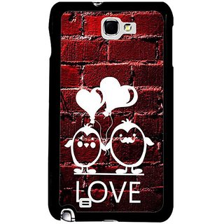 Fuson Red Designer Phone Back Cover Samsung Galaxy S5 (Hearts On A Red Wall)