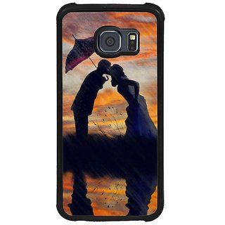 Fuson Multi Designer Phone Back Cover Samsung Galaxy S6 G920I (Kiss Of Love In The Rain)