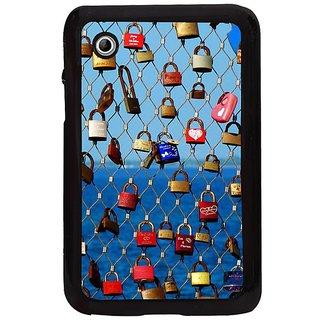 Fuson Multi Designer Phone Back Cover Samsung Galaxy Tab 2 (Locks On The Grill)