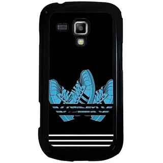 Fuson Blue Designer Phone Back Cover Samsung Galaxy S Duos S7562 (Run Your Life Out)