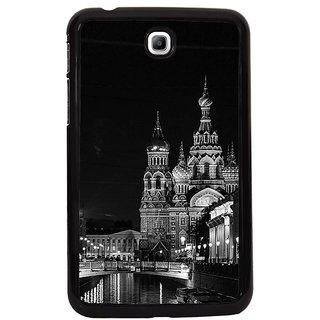 Fuson Multi Designer Phone Back Cover Samsung Galaxy Tab 3 (Calming Walk At Night In Russia)