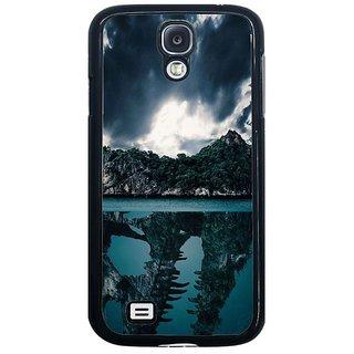 Fuson Blue Designer Phone Back Cover Samsung Galaxy S4 I9500 (Beautiful Ocean And Island Rock Scene)