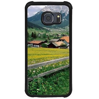 Fuson Multi Designer Phone Back Cover Samsung Galaxy S6 G920I (Scenic View Of European Hills)