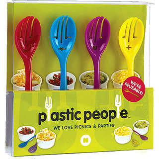 Cool Trends Plastic People - Face Shaped Spoon Set (set Of 4)