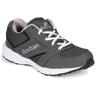 Bostan Men Gray Lace-up Running Shoes
