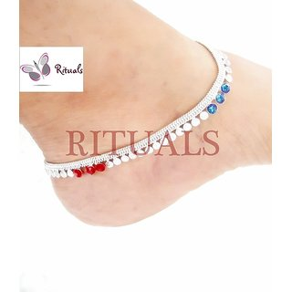 German Silver Cz Diamonds Anklets  - Guarantee Of Polish