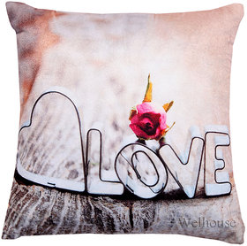 Love Print For  Your Valentine Cushion Cover (WVLCS-002)