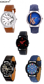 DCH Combo of 5 Men Watches