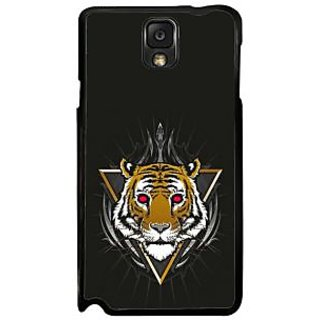 Fuson Black Designer Phone Back Case Cover Samsung Galaxy Note 3 (Head Of The Tiger)