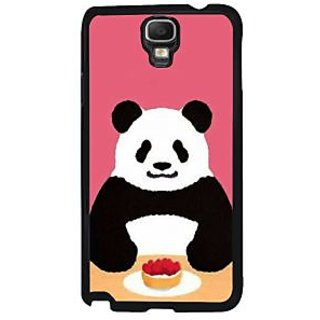 Fuson Multicolor Designer Phone Back Case Cover Samsung Galaxy Note 3 Neo (Panda Having Lunch)