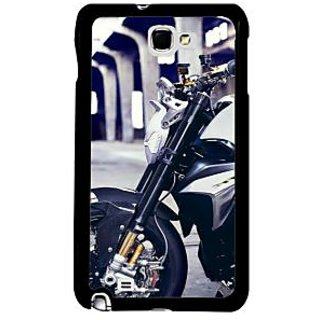 Fuson Multicolor Designer Phone Back Case Cover Samsung Galaxy Note 2 (Front Portion Of The Bike)