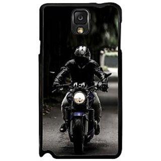 Fuson Multicolor Designer Phone Back Case Cover Samsung Galaxy Note 3 (Person Riding The Bike)