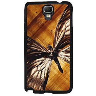 Fuson Brown Designer Phone Back Case Cover Samsung Galaxy Note 3 Neo (Butterfly With Wings Spread)