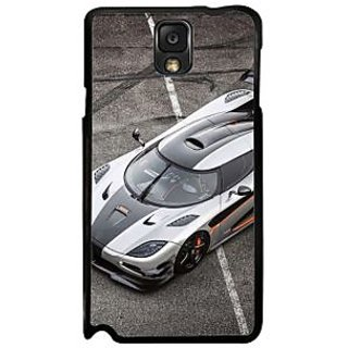 Fuson Gray Designer Phone Back Case Cover Samsung Galaxy Note 3 (The Car For Racing)