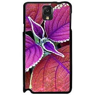 Fuson Purple Designer Phone Back Case Cover Samsung Galaxy Note 3 (Set Of Purple Leaves)