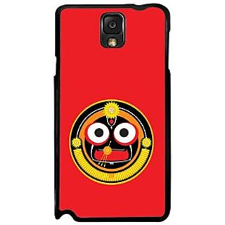 Fuson Red Designer Phone Back Case Cover Samsung Galaxy Note 3 (Shree Jagannath)