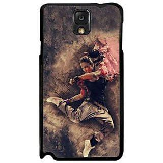 Fuson Black Designer Phone Back Case Cover Samsung Galaxy Note 3 (Rock The Stage)